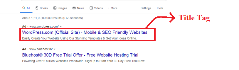 Title Tag in On-Page SEO